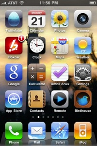 Apple iOS 4 iPhone screenshot