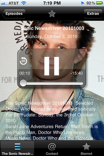 Sonic Newsdriver App Screenshot