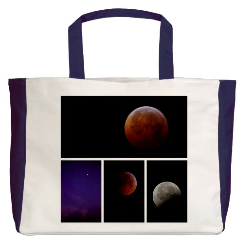 Winter Solstice Lunar Eclipse Tote Bag
