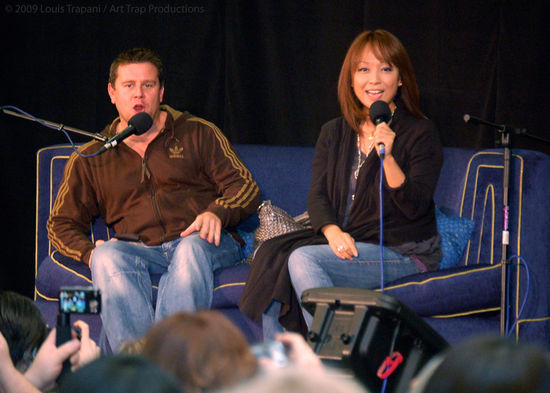Kai Owen and Naoko Mori at Gallifrey 20