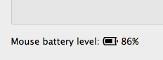 Magic Mouse Battery Level Indicator